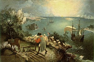 Bruegel's Landscape with the Fall of Icarus, u...