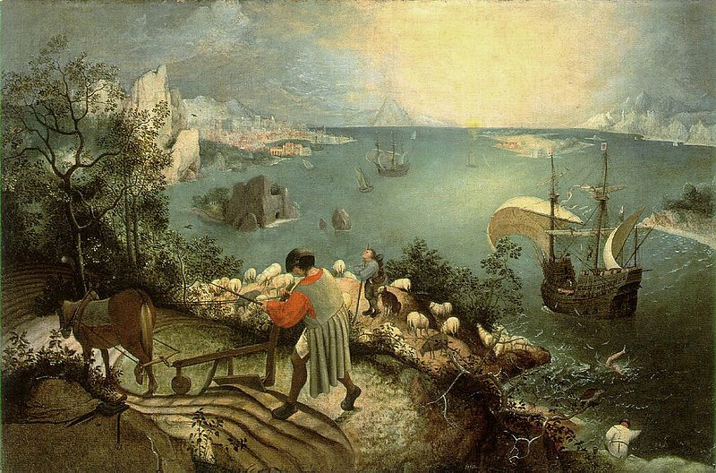 Bruegel - Landscape with the Fall of Icarus Source: Wikimedia Commons