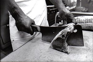 English: Photograph of a cleaver. Deutsch: Fot...