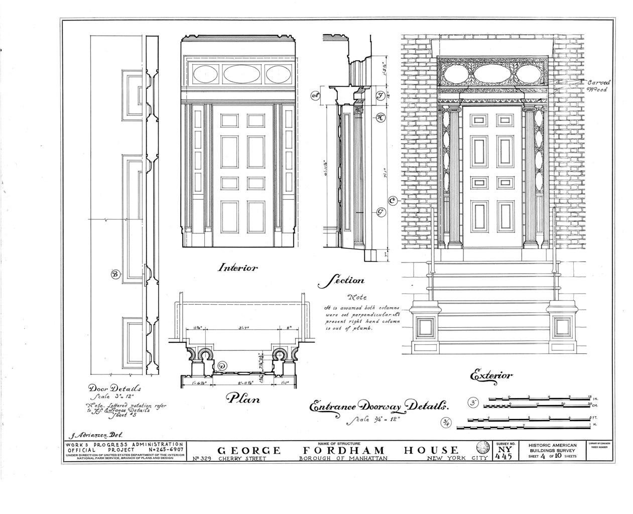 File George Fordham House 329 Cherry Street New York