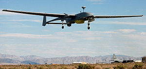 IAI Heron 1 UAV in flight. Location: NAVAL AIR...
