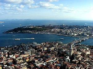 Istanbul - aerial overview about historical Su...