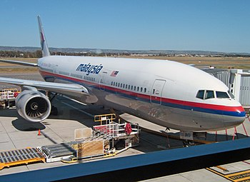 English: Malaysia Airlines Boeing 777 flight M...