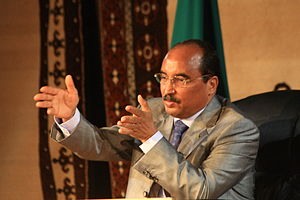 English: Mauritanian President Mohamed Ould Ab...
