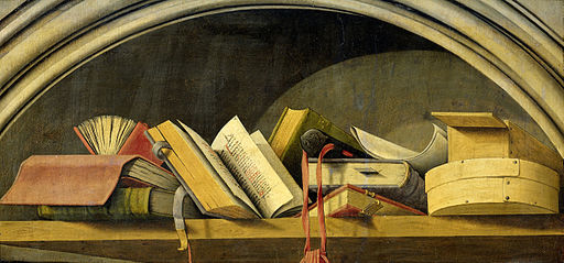 Nature morte aux livres - Triptyque de l'Annonciation d'Aix - Rijksmuseum