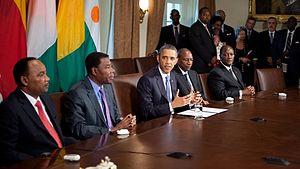 Barack Obama, president of the United States, ...