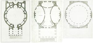 Comparison of the ground plans of the Pantheon...