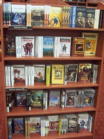 Novels in a Polish bookstore