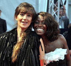 French actresses Romane Bohringer and Aïssa Ma...