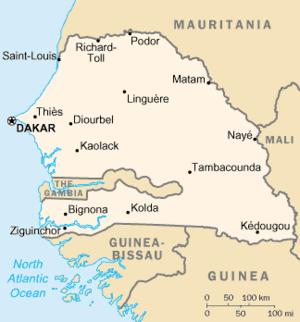 English: senegal map
