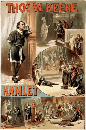 A circa 1884 poster for William Shakespeare's ...