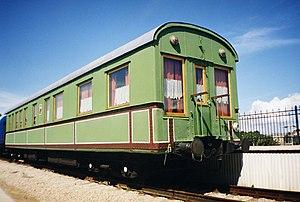 Object: Old railroad car in Kaliningrad railro...