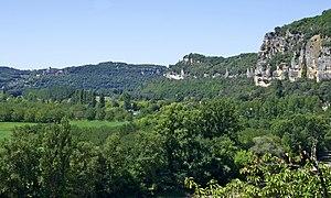 Français : Paysage typique de la vallé de la D...