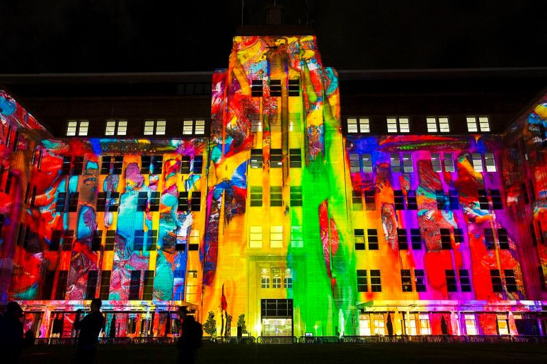 Vivid Sydney 2016 The Matter of Painting TheRocks CREDIT Destination NSW AW1961