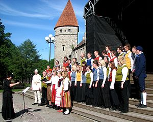 Mixed chorus Vox Populi performing in XXIX Old...