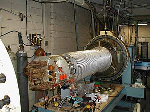 A single stage 2 MeV linear Van de Graaff part...