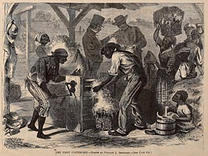 """The First Cotton Gin"" conjectural i..."