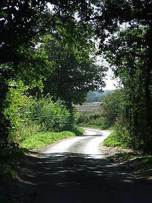 Country Road Country road near to Rushbrooke, ...