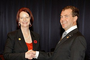 English: With Prime Minister of Australia Juli...