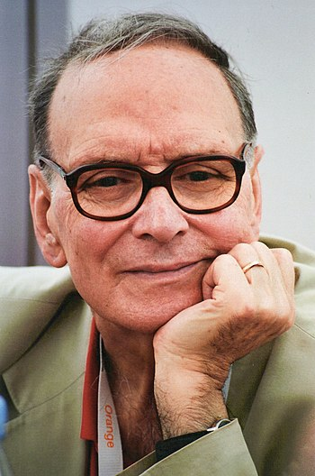 English: Ennio Morricone at the Cannes film fe...