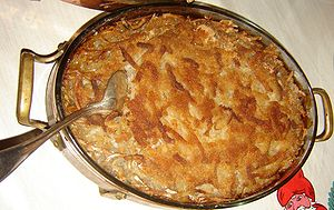 Potato casserole called Janssons frestelse
