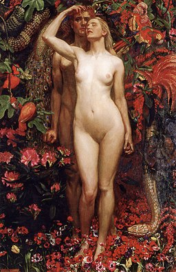 John Liston Byam Shaw The Woman The Man the Serpent