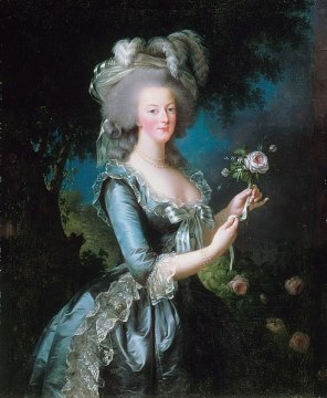 Painting by Louise Elisabeth Vigée-Lebrun. French rococo period fashion