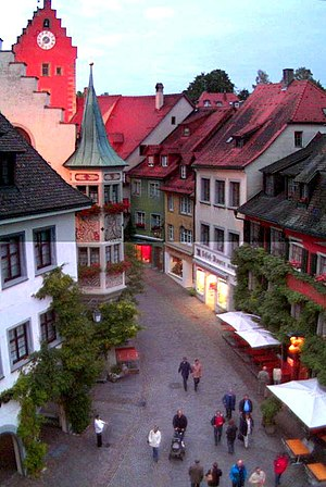 English: The Old Town of Meersburg, View over ...