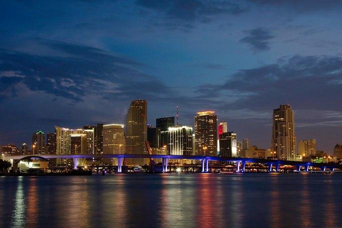 Night Panorama Miami Florida 5462