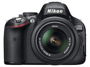 Nikon D5100 body with Nikkor 18-55mm.