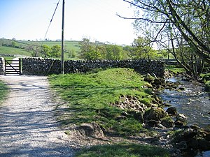 English: The Pennine Way and Malham Beck The P...