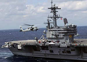 ATLANTIC OCEAN (March 3, 2010) An MH-60S Sea H...