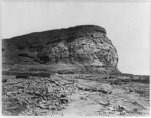El Morro de Arica después del terremoto.