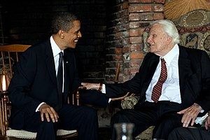 President Barack Obama meets with Rev. Billy G...