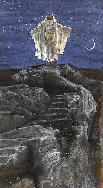 File:Brooklyn Museum - Jesus Goes Up Alone onto a Mountain to Pray (Jésus monte seul sur une montagne pour prier) - James Tissot - overall.jpg