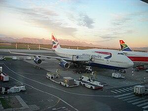 British Airways Boeing 747-400 parked at Cape ...