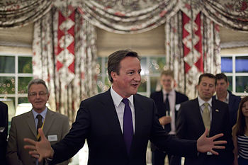 Cameron speaking in 2010.
