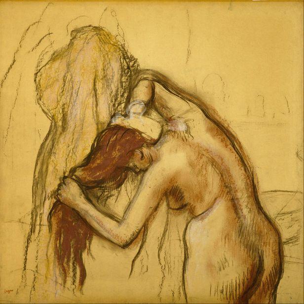Edgar Degas - Woman Drying Herself - Google Art Project