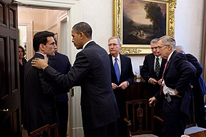 Cantor and other House and Senate leaders meet...