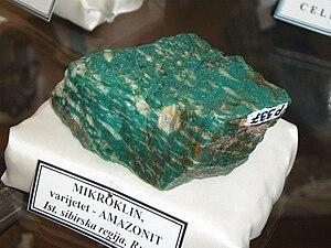 English: Amazonite, Museum of rocks and minera...