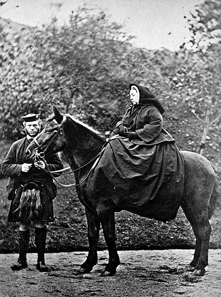 John Brown and Queen Victoria at Balmora Estate.