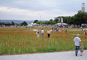Blick über den Friedrichsplatz während der doc...