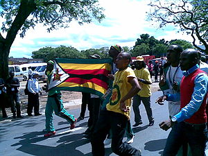 English: Delegates from Zimbabwe and ZANU-PF Y...