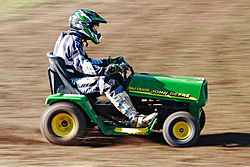 A modified 250cc racing lawnmower