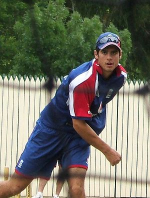 Alastair Cook, bowling at Adelaide Oval cricke...
