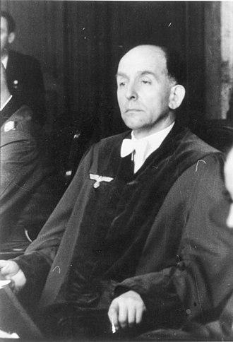 Roland Freisler - Präsident des Volksgerichtshofes