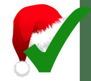 English: Christmas-themed check mark