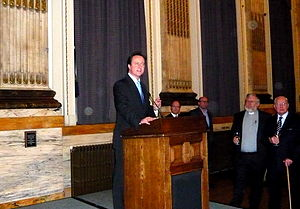 English: David Cameron at a Conservative Party...