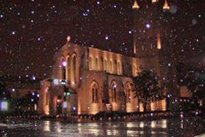 Trinity Church during Houston's 2004 Christmas...