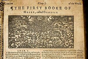Intaglio,, copperplate print (KJV) 1631 Holy B...